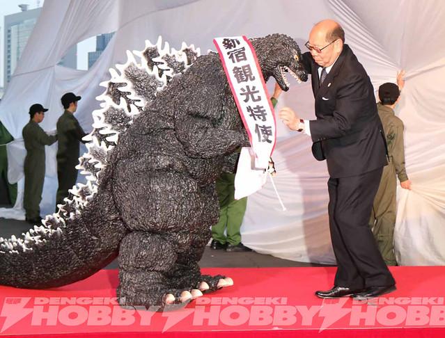 怪獸之王「哥吉拉」成為觀光大使!本尊等比尺寸現身新宿!