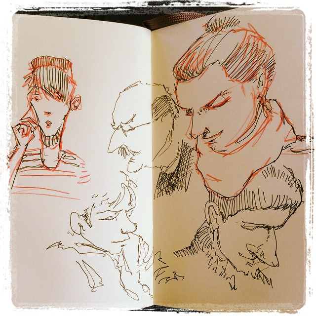 #train #urbansketch #pencil #uniballsigno