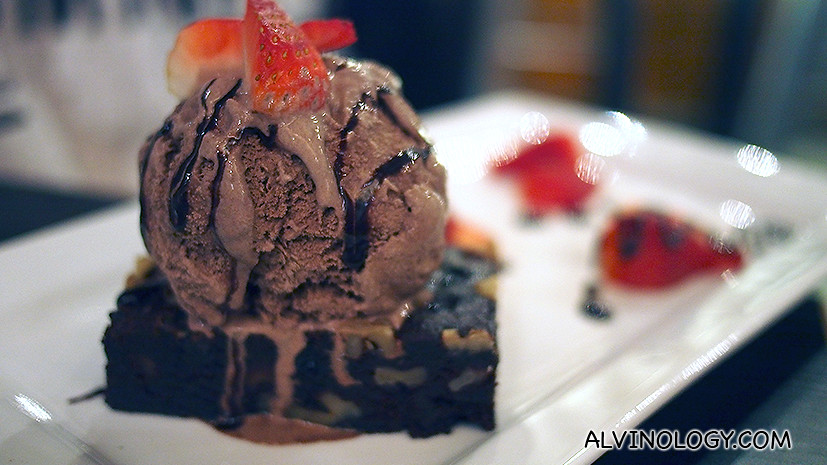 Brownie with ice cream. (POA)