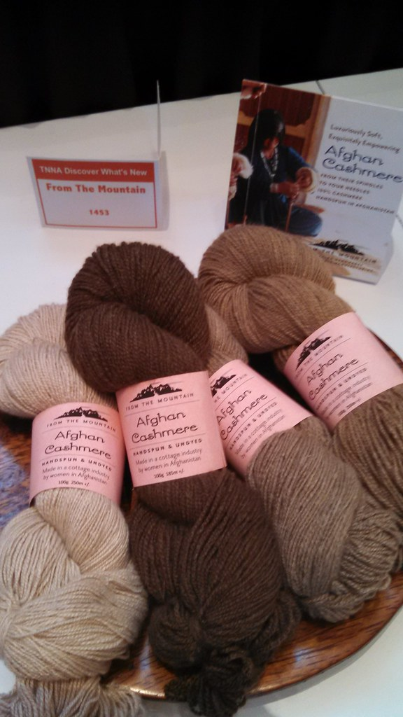 yarn in shades of brown from basket