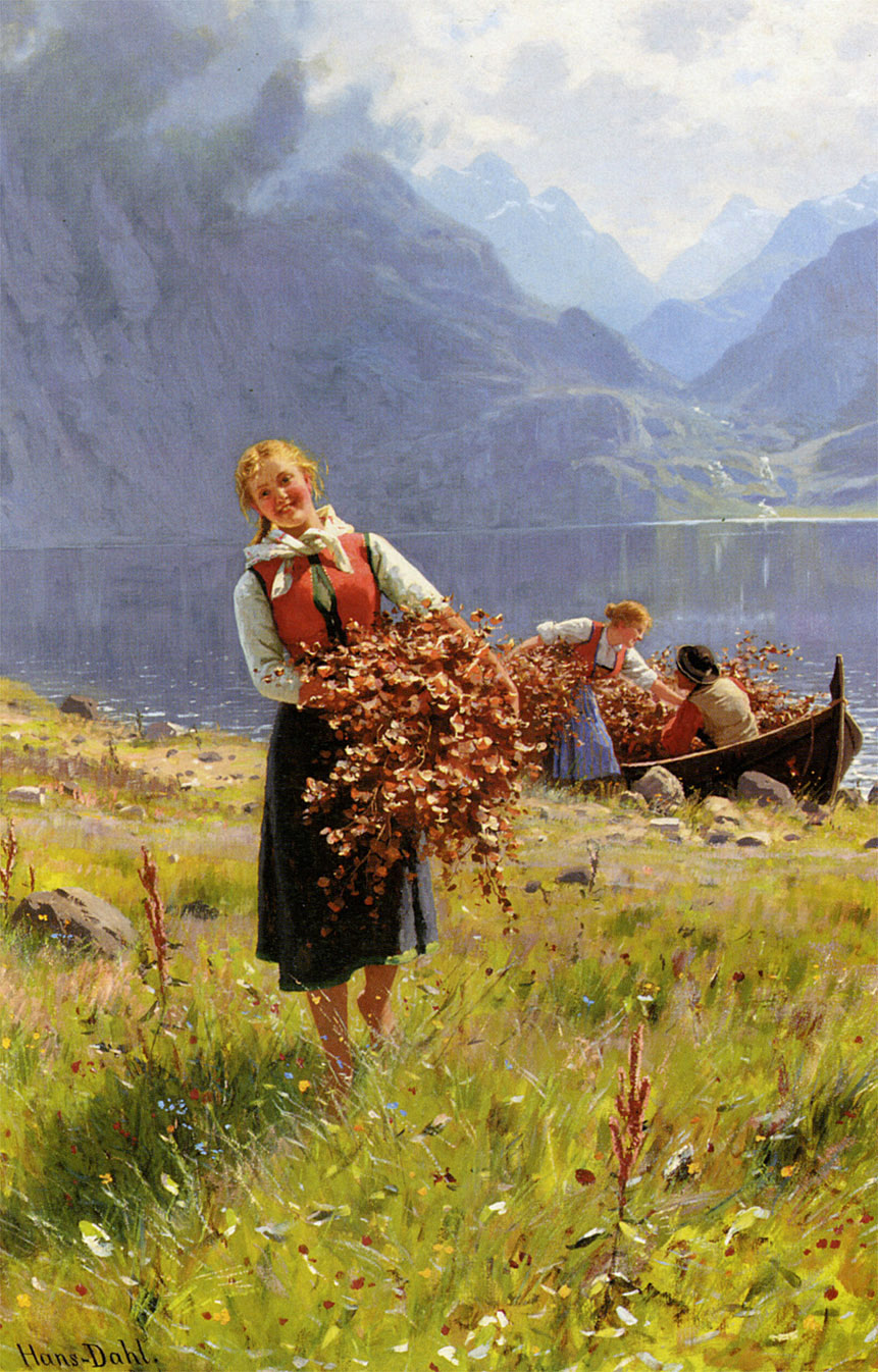 Summer Day on the Fjord by Hans Dahl