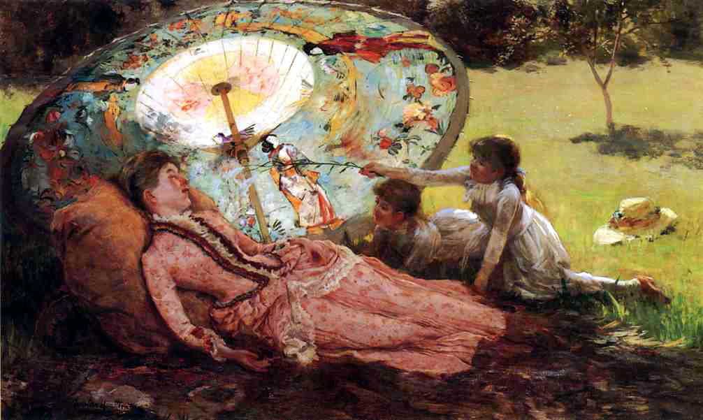 Lady with a Parasol by Hamilton Hamilton