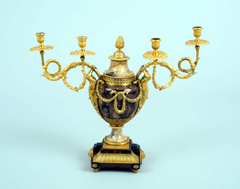 c. 1770. Candelabrum. Matthew Boulton. Credit Art Institute of Chicago