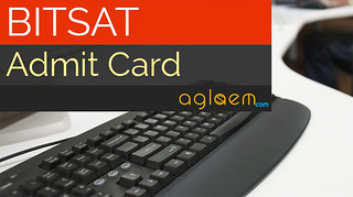 BITSAT 2017 Admit Card