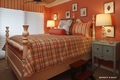 Tropical Bedroom Design Ideas In Orange Bedroom Color