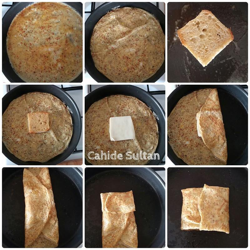 Sürpriz ekmekli omlet