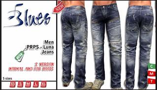 [BLUES]Men -PRPS- Luna- Jeans (MESH)