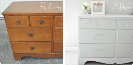 El blog de anita diy pintar los muebles de casa - Muebles antiguos pintados de blanco ...