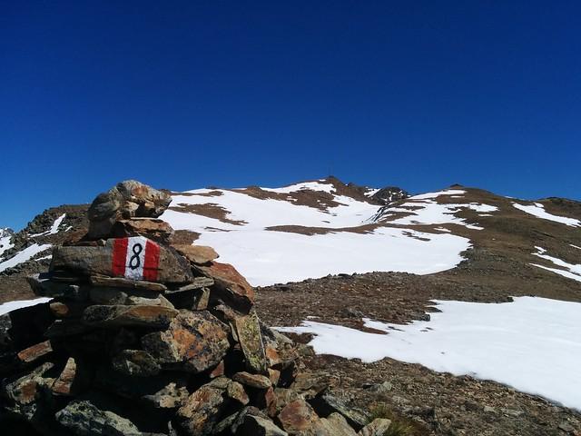 Gipfelkreuz Kor im Blick