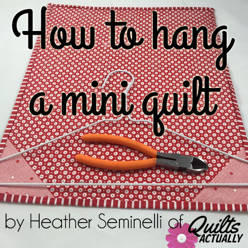 how to hang a mini quilt_square