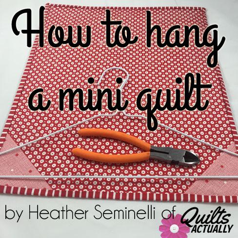 How to hang a mini quilt - QA Creations : mini quilt hangers - Adamdwight.com