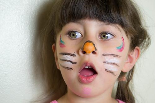 My Daughter Jomana - Cat face painting!!