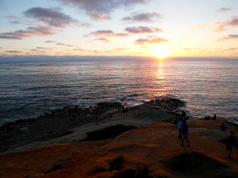 Sunset at Sunset Cliffs, San Diego
