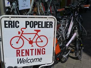 Tienda de bicicletas Eric Popelier en Brujas (Flandes, Bélgica)