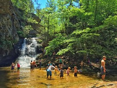 Memorial Day Weekend at Lower Cascades in Hanging Rock State Park!