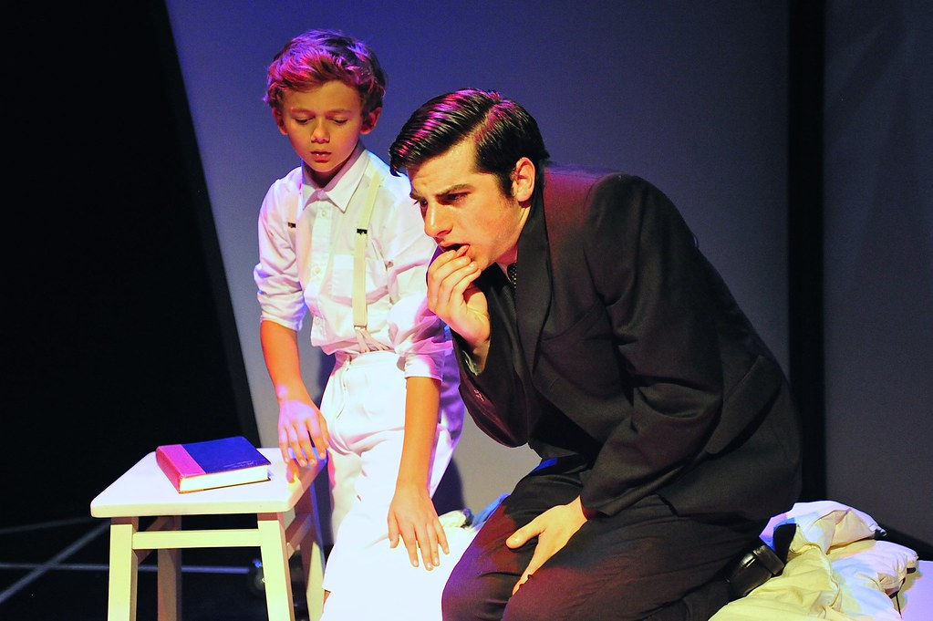 <p>Alexander Rolinski as Franz's Little Soul Animula and Matthew Payne as Franz<br /> <br /> Photo by Valentine Radev</p>
