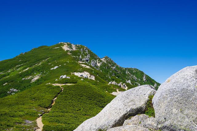 花崗岩の美しい空木岳山容