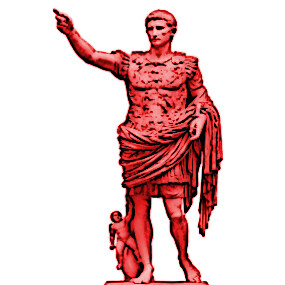 augustus caesar statue_smallnred_cartoon