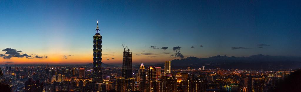 Sunset over Taipei