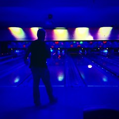 #bowling #cosmicbowling #datenight #blacklight #igdaily #silhouettes #strike #vsco #Enlight