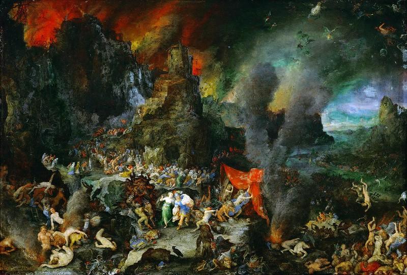 Jan Brueghel The Elder - Aeneas and Sibyl in the Underworld, 1601