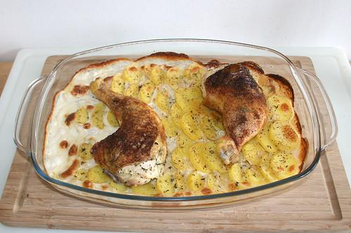 24 - Auflaufform zwischendurch entnehmen / Take casserole from oven