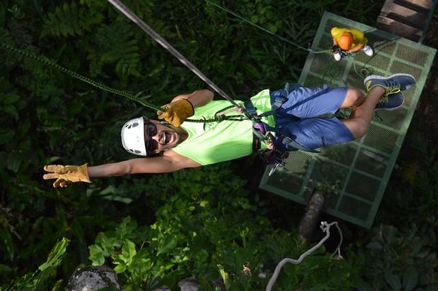 zipline in costa rica during 300-hour yoga teacher training immersion