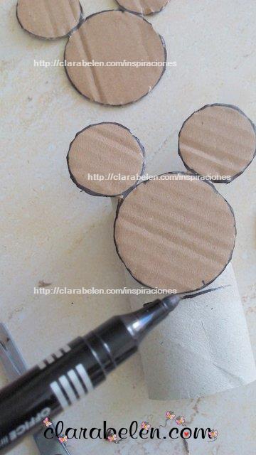 cómo dibujar silueta de cabeza de Mickey Mouse y a Minnie Mouse