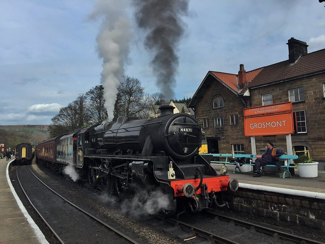 Tren a vapor de North York Moors (Yorkshire, Inglaterra)
