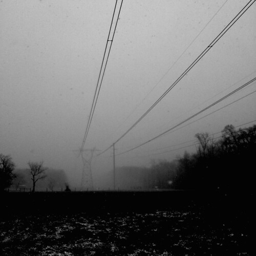 winter blackandwhite snow nature monochrome weather squall contrast square landscape blackwhite snowstorm cellphone highcontrast maryland powerlines 365 phonephoto apps iphone earthnature cecilcounty enveloping phoneography marylandnature squarelandscape squarenature iphoneography iphone5s image30100 100xthe2015edition 100x2015
