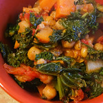 Tunisian Sweet Potatoes, Chickpeas & Greens