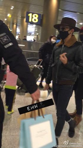 Big Bang - Incheon Airport - 31jan2015 - G-Dragon - eMwTopxi - 01