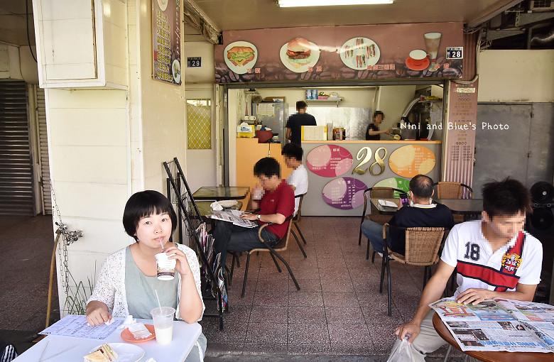 台中中華夜市28早午餐咖啡10