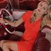 Renae Ayris, Classic Cadillac convertible. by Kent Johnson
