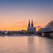 Sunset Köln - Koeln - Keulen - Colonge by Bredewoldski