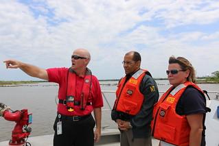 NTSB Chairman Hart tours the Houston Ship Channel