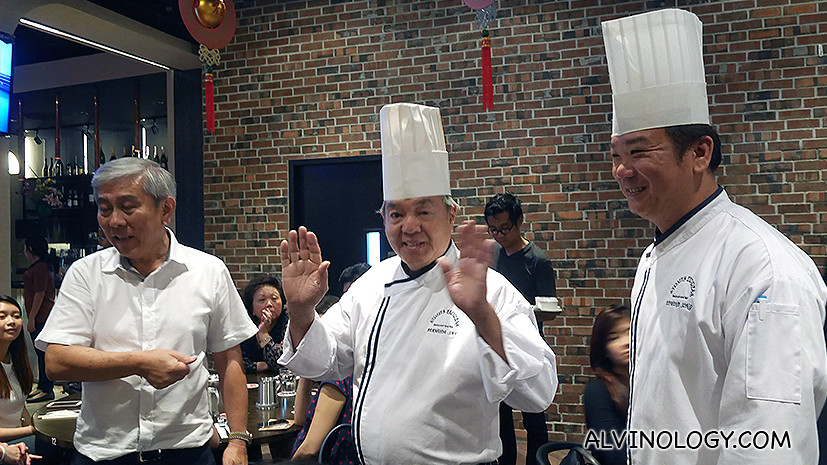 Left to Right: Owner Tony Tan, Chef Bermuda Say and Chef Frankie Ooi