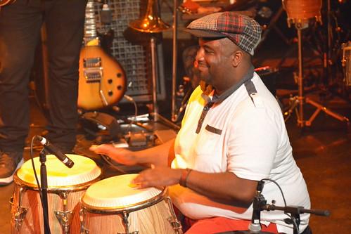 Nigel Hall's band at WWOZ Piano Night 2015.  Photo by Kichea S Burt.