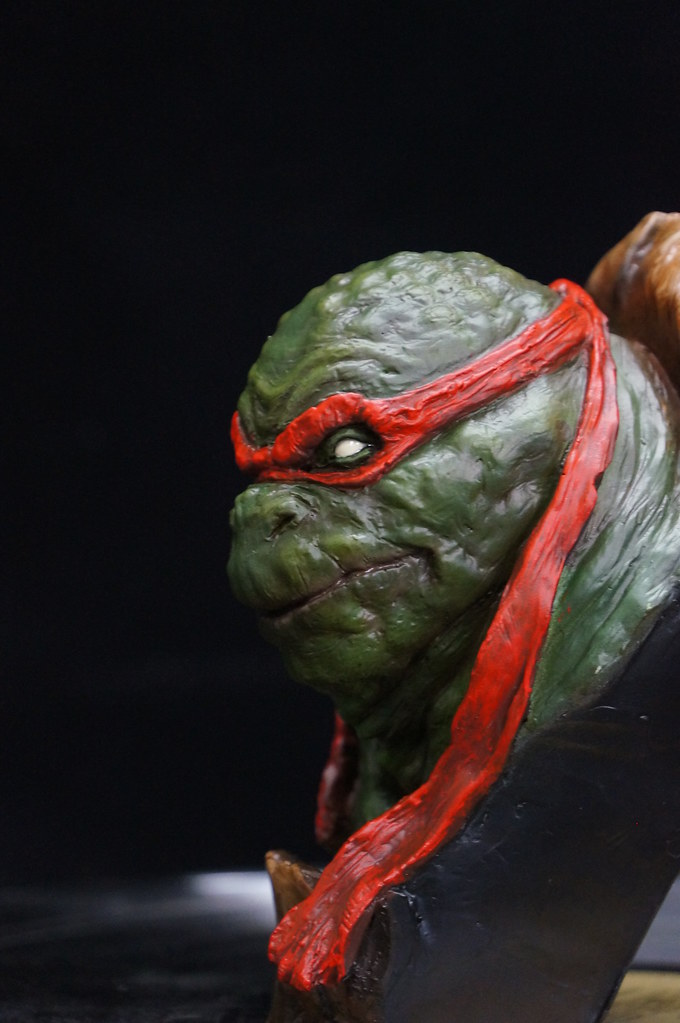 1/4 TMNT sculpté par Cyril Roquelaine 17126959798_6f93b6b3f2_b