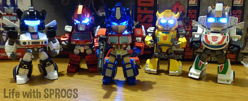 Reunited! TF03 and TF01 Autobots