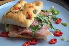Prosciutto & Salami Antipasti Focaccia with Ch…