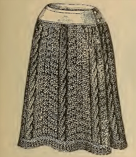1892 Knitted Petticoat