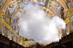 Nube en la biblioteca - Cloud in Library - A la manera de  René Magritte