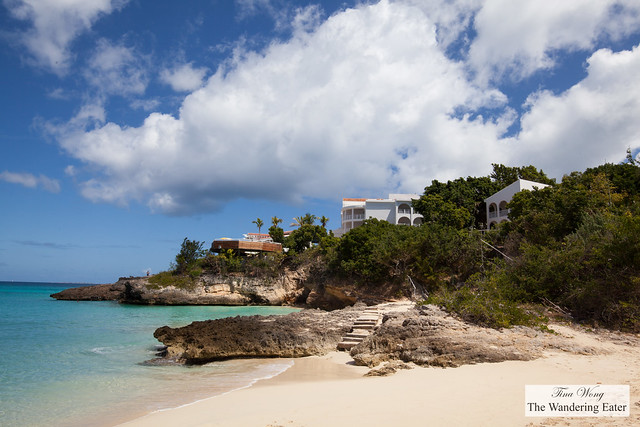 Villas on the cliffs on West End Cove of Anguilla