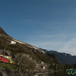 Swiss Train Along Lake Geneva - Montreux, Switzerland