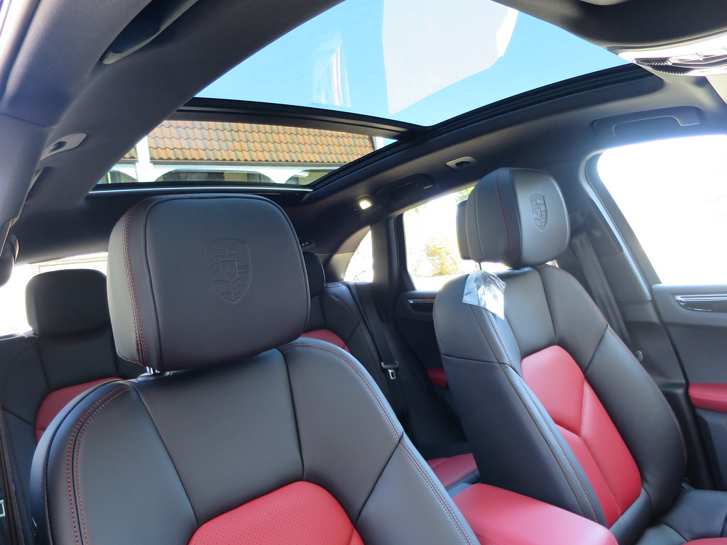 Garnet red black partial leather holla page 4 - Porsche macan white with red interior ...