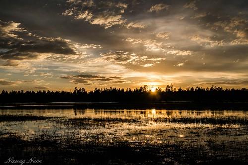 sunset arizona reflections ngc northernarizona goldenhour marshalllake