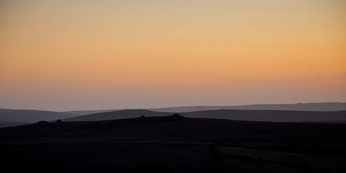 sunset landscape evening devon moor dartmoor 2015
