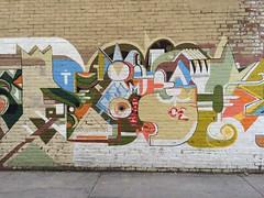 Alleyway wall mural in Missoula, Mont.