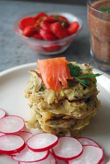 Asparagus Fritters w/ Graved Lax